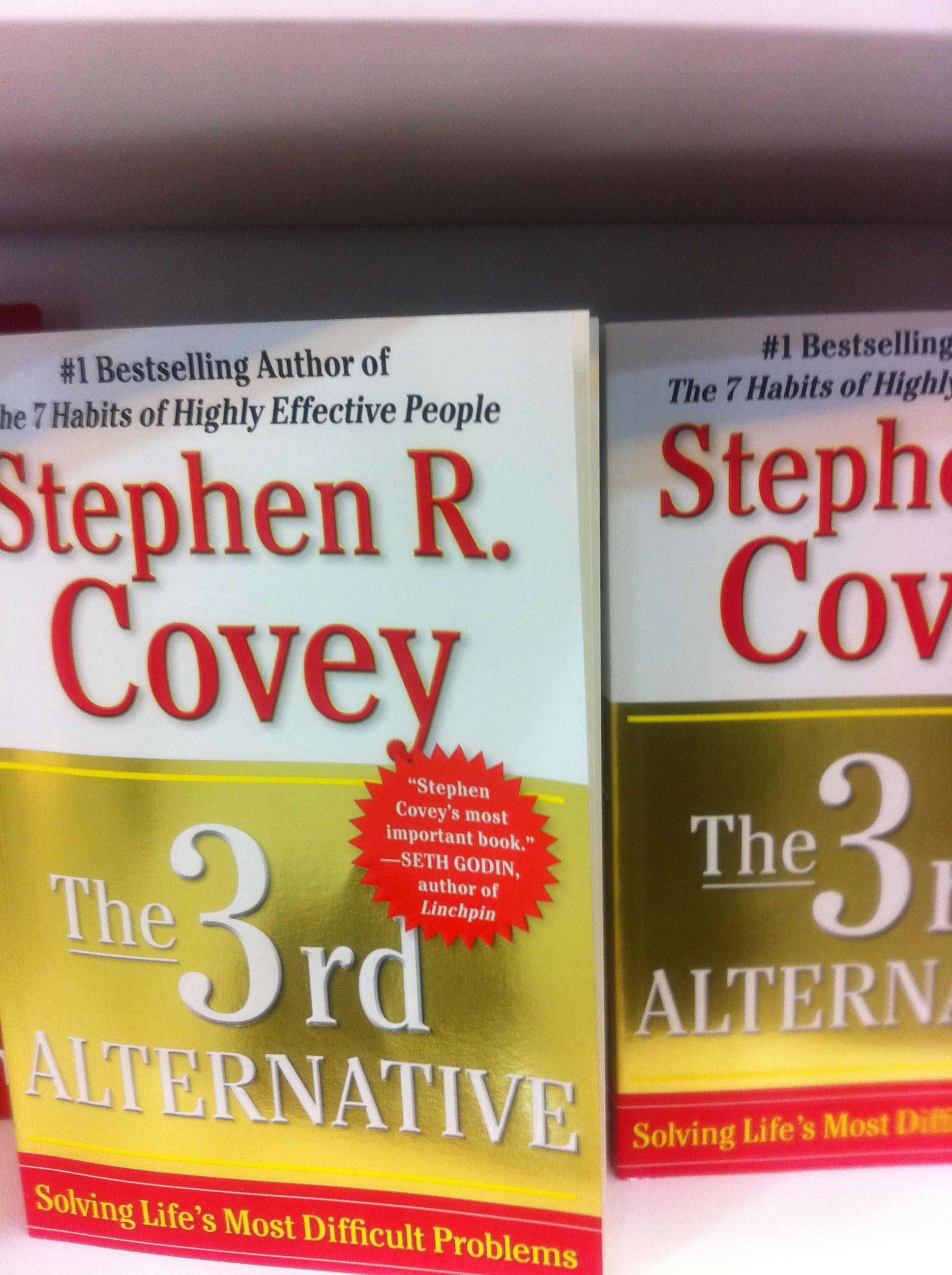 The 3rd Alternative: Solving Lifes Most Difficult Problems by Stephen R. Covey